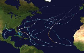 2019 Atlantic Hurricane Path Map